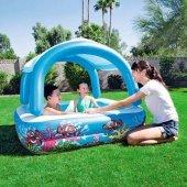 Bestway 52192 Şişme Büyük Boy Çoçuk Havuzu Güneşlikli 147x147cm