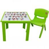 çocuk Masa Sandalye Takımı Yeşil Alfabe