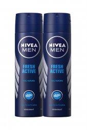 Nivea Deo Sprey Fresh Active 150 Ml Erkek 2li Eko Set