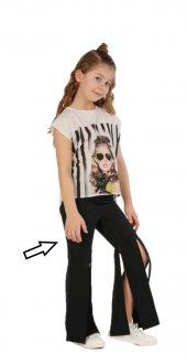 Zekids Kız Çocuk Dizden Yırtmaçlı Pantolon