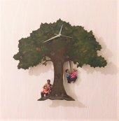 Meşe Ağacı Sallanır Sarkaçlı Duvar Saati