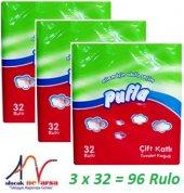 Pufla Tuvalet Kağıdı 3 Paket X 32 96 Rulo