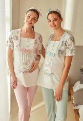 Feyza 3243 Hamile Lohusa İkili Pijama Takımı Hediyeli
