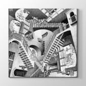 Mc Escher Relativity 1953 Tablosu 70 Cm X 70 Cm