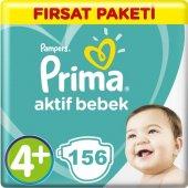 Prima Bebek Bezi Aktif Bebek 4+ Beden Maxi Plus Aylık Fırsat Pake