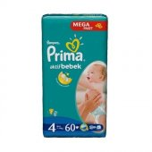 Prima Bebek Bezi Aktif Bebek Mega Paket 4 Beden 60 Adet