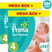 Prima Bebek Bezi Aktif Bebek Pampers Mega Box Plus Maxi 4 Beden 2