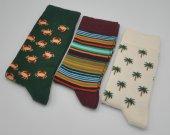 Kişiye Özel Desenli 3lü Kombin Erkek Çorap (Özel Üretim) #10