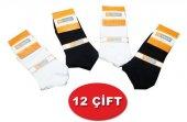 Trendy Desensiz Düz Renk Ekonomik Erkek Patik Çorap 12li Paket