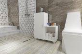 Kenzlife Banyo Dolabı Alev Byz Ofis Mutfak Kiler Banyo Kitaplık