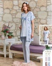 Flz 31 161 Bayan Hamile Lohusa Modal 3lü Pijama Takımı