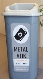 Sıfır Atık Projesi Metal Atık Kutusu 60 Lt