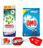 Ariel Toz Deterjan 10 Kg + Omo Toz Deterjan 10 Kg