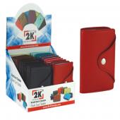 2k Kredi Kartlık Suni Deri Dikey Çıtçıtlı 10 Yp 257
