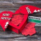 Sevgiliye Kalp Kutuda Aşk Hediye Seti