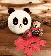 Panda Yastık Ve Sevgi Dolu Konuşan Ayıcık Hediye Seti