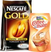 Nescafe Gold 500 Gr Kahve + Nestle Coffee Mate 200...