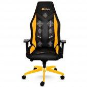 Xdrive Masajlı Oyuncu Koltuğu Fırtına Serisi Sarı Siyah