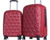ççs 5145 8 Tekerlek Orta Ve Kabin Boy 2li Valiz Seti Kırmızı