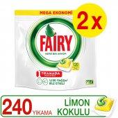 Fairy Hepsi Bir Arada Bulaşık Kapsülü Limon 120 X 2 Yıkama
