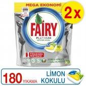 Fairy Platinum Bulaşık Kapsülü Limon 90 X 2 Yıkama