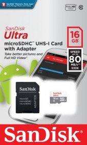 Sandisk 16gb 32 Gb Microsd 80mb S Hafıza Kartı Tesbih Hediyeli