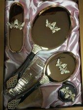 Monalisa Lux Kelebek Desenli Ayna Tarak Fırça Tk 2...