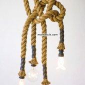 2cm Dekoratif Örgülü Jut Hasır Halat Kablo, 1 Metr...