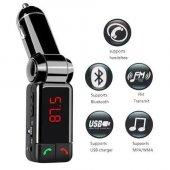 Bluetooth Araç Kiti Fm Transmitter Gsm Aux Görüşme...