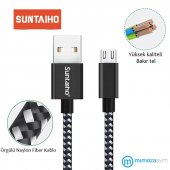 Suntaiho S108 5v2.4a Örgü Detaylı 25 Cm Micro Usb Kablo S.b