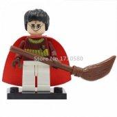 Lego Uyumlu Mini Figür Harry Potter, Dark Red Quiddit (H6)
