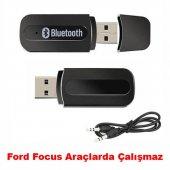 Mini Usb Bluetooth Aux Araç Kiti Usb Dongle Siyah İphone Samsung