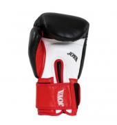 Joya Thaı Kıck Boxıng Glove Leather Black Red (0060)
