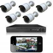 Primuscam 5 Kameralı Set Gece Görüşlü Güvenlik Kamerası 2mp Ahd Dvr Plastik Kasa