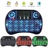 ışıklı Mini Klavye Mouse Smart Tv Box Pc Şarjlı Pg...