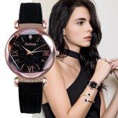 Sade Şık Tasarım Bayan Kol Saati Doğaltaş Bileklik Hediyeli Saat