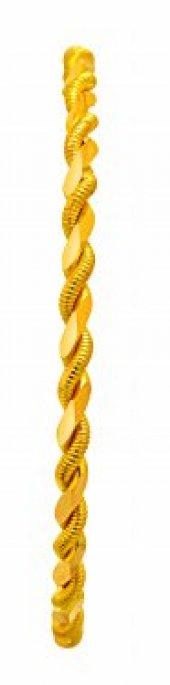 25 Gram 22 Ayar Altın İkili Burma Bilezik 6.2