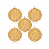 Tam Altın Darphane 5 Adet Paket Eski Tarihli
