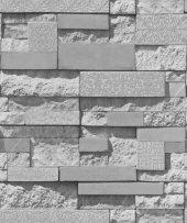 Exclusive 9200 Gri Taş Desenli Duvar Kağıdı