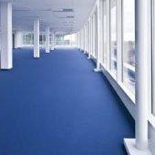 Pvc Yer Döşemesi 4 Metre Eninde Mavi Renk Dekorfloor Serfloor
