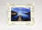 Camlı Desenli 15x21 Cm. Plastik Fotoğraf Çerçevesi