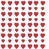 Partipan Büyük Dizili Eva Kalp Süs Kırmızı