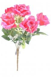 5 Dallı 28 Cm Gül Yapay Çiçek Kırmızı Ck010kz...