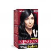 Nevaton Saç Boyası 1.1 Mavi Siyah Bir Kutuda 2 Boyama