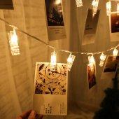 20li Işıklı Fotoğraf Mandalları 3 Metre