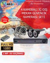 4 Kameralı İç Mekan Ve Dış Mekan Güvenlik Kamerası Seti (Hd1080p)
