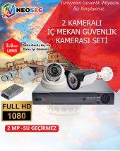 2 Kameralı Güvenlik Kamerası Seti (Hd 1080p)