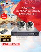 2 Kameralı (İç Mekan) Güvenlik Kamerası Seti Hd 1080p