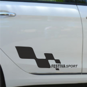 Ford Festiva Yan Sport Oto Sticker Sağ Sol 2 Adet...