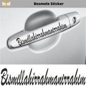 Besmele Oto Sticker 15 Cm